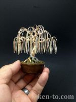 3-color willow wire bonsai tree by Ken To by KenToArt