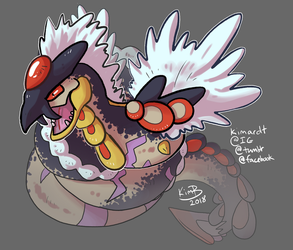 Pokefusion: Seviper + Kommo-o by phantos