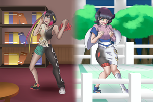 Comm - Ranking Up 3! (Plumeria and Wicke TG/TF/AP) by KAIZA-TG