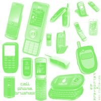 Cell Phone Brushes by fartoolate