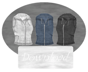 [MMD] SLEEVELESS HOODIE [+DL] by Sims3Ripper