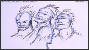 Learn to draw characters in different positions 19 by drawingcourse