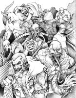 Spiderman Rogues Gallery by JeffyP
