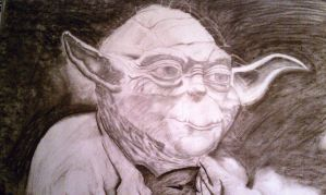 yoda charcoal by krypton619