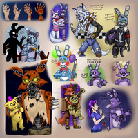 Of Foxes and Bunnys FNAF AU by TangledMangle