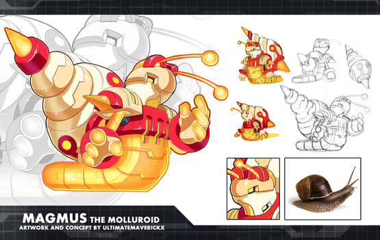 MMZX Ultimus- Magmus the Molluroid by ultimatemaverickx