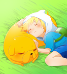 Adventure Time: Sleepy Puppies by Lezombie-kun