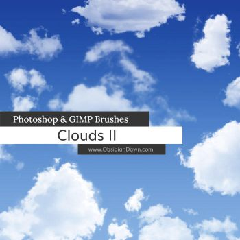 Clouds II Photoshop and GIMP Brushes by redheadstock