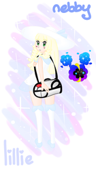 Lillie and Nebby by Peach-X-Yoshi