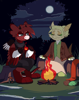 Magic Training - By the fire.gif [ROLL CREDITS] by WowzaDawg