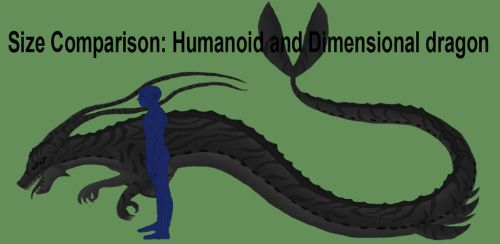 Size Comparison: Humanoid and Dimensional dragon by LadyAlluvia