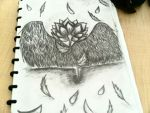 A rose with wings (100% pencil shaded) by G4B2TER