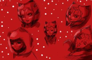 Ahsoka Tano.Sketches by Chyche