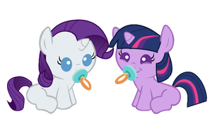 Twiwight and Wawity sucking their Pacifiers by 3D4D