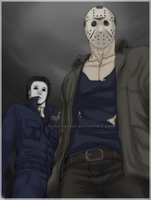 Memories And Pain_Michael Myers, Jason Voorhees by Anko-sensei