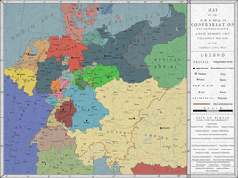 The German Confederation, 1867 by Saluslibertatis