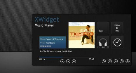 Elegant Music Player for xwidget by Jimking