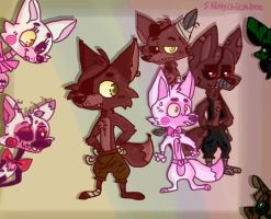 .:FNAF:. Foxy's Family. by Shinychicadee
