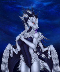 Feathered dragoness by Selianth