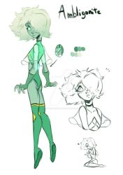Ambligonite (Redesign SU Oc) by Funnylunetta