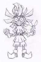 Skull kid sketch by vakurii