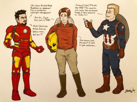 Cliff meets Tony and Steve by thestick80