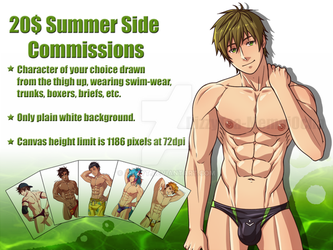 Summer Side Commissions Promo Batch 2 by DizzyT