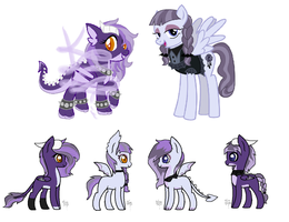 MLP Bred Adopts -  Dragon Pegasi Foals (1/4 Open) by Blast4rt