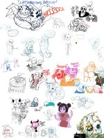 Zany Drawpile on 1/7/17 by catgir