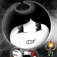 .:Practice:. Crying Bendy by InkingSky