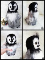 Hand made: Poseable Baby Penguin (FOR SALE) by MalinaToys