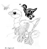Aquatic Raptor and Bee by Psithyrus