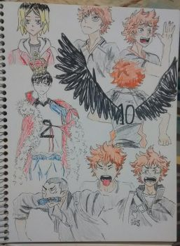 haikyuu doodles by mystifyingmelodies