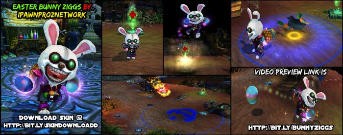 Ziggs Easter Bunny - League Of Legends by carlozs