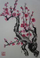 plum blossoms by whatupgee