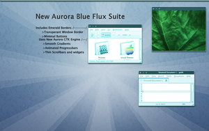 Aurora Blue Flux Suite by fratrip