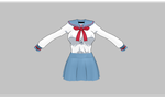 MMD Manga school uniform -large bust- by amiamy111