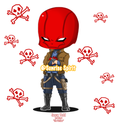 Batman Chibi Collection - Red Hood by Sunrise-Spirit