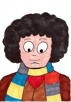 Fourth Doctor Sketch Card by maxwestart