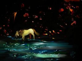 Safe Underground - painting from glitter paper by psycopix