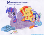 Feather Licking Fun by TwilightFlopple