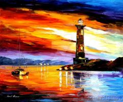 LIGHTHOUSE by Leonid Afremov by Leonidafremov