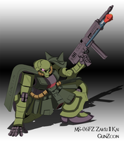 MS-06FZ Zaku II Kai by GunZcon