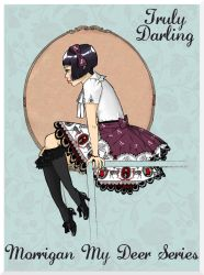 Truly Darling Lolita Art: Morrigan Skirt by Kinbarri