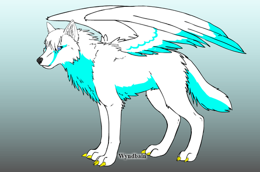 Angel Wolf Adopt: Open by DarciathePurpleWolf
