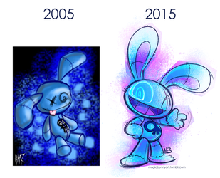 Magic Bunny - Then and Now by MagicBunnyArt