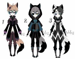 victorian Kemonomimi adoptable batch CLOSED by AS-Adoptables