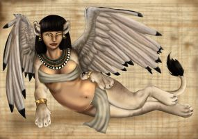 Sphinx Pinup by arania