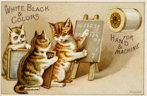 Victorian Advertising - Math Cat Says by Yesterdays-Paper