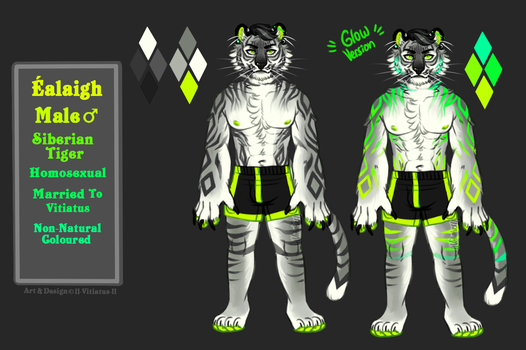 The Green Fire Tiger [Ref] by ll-vitiatus-ll